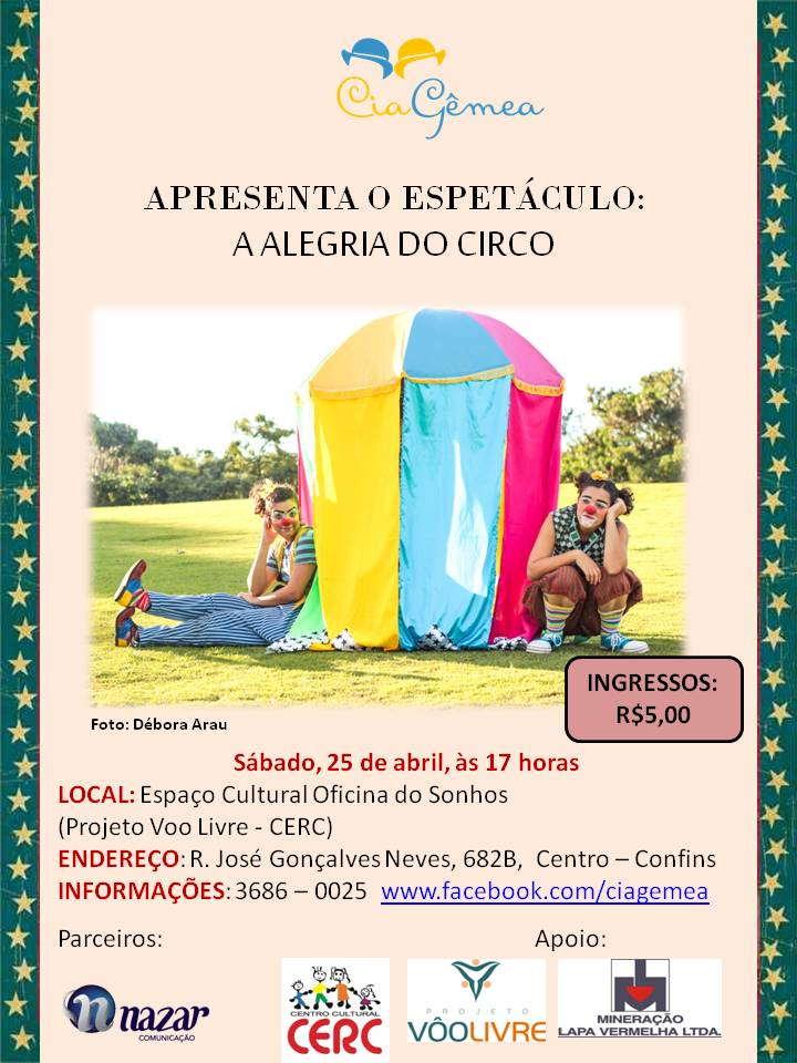 Flyer A alegria do Circo