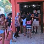 Público chegando para o espetáculo
