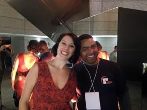 Maria Rezende e Wladimir Medeiros, gestor do NUTAC