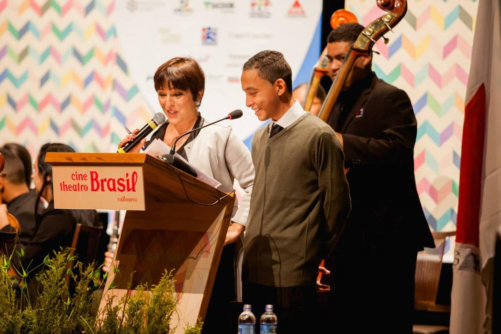 Inácia e Vinicio na apresentação da noite de abertura